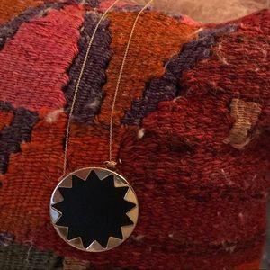 House of Haralson Large Black Sunburst Necklace